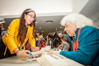 Egyptian writer Nawal El Saadawi signing books at last year's festival (Credit: Ivan Gonzalez)