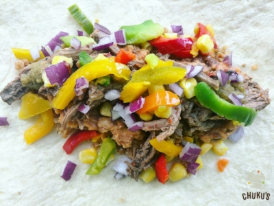 Our pulled beef Eko Burrito - The Sagamu