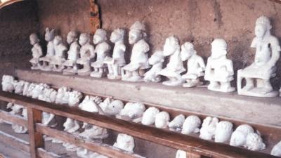 Esie soapstone statues
