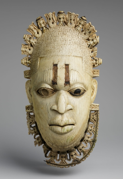 Mask of Queen Idia, the first Queen Mother of Benin Kingdom (credit: Metropolitan Museum of Art)