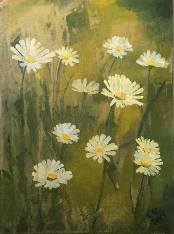 Sepia Daisies