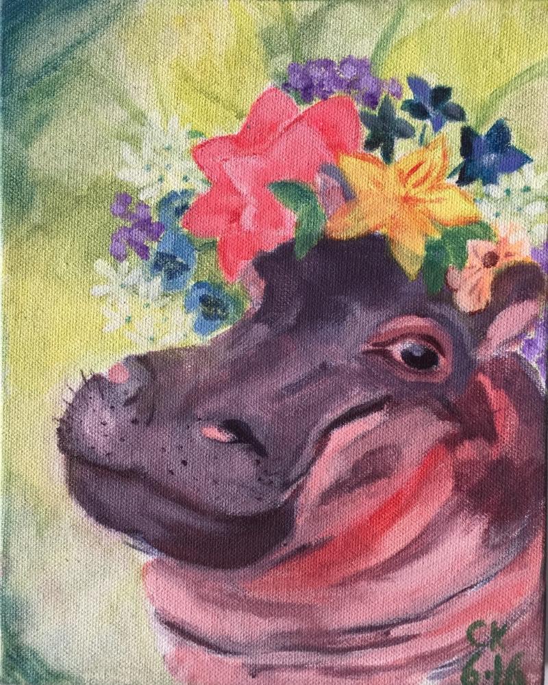 Flower Hippo