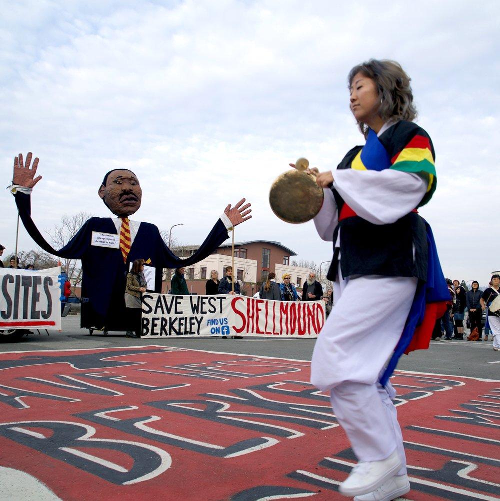 West Berkeley Shellmound Protest