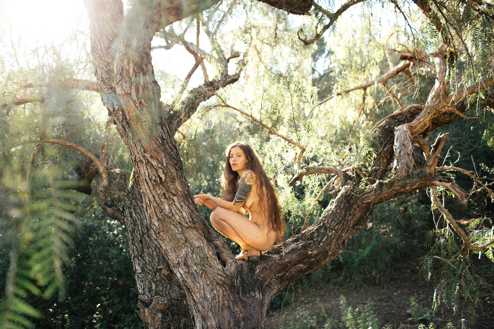 arousing sexually in the forest