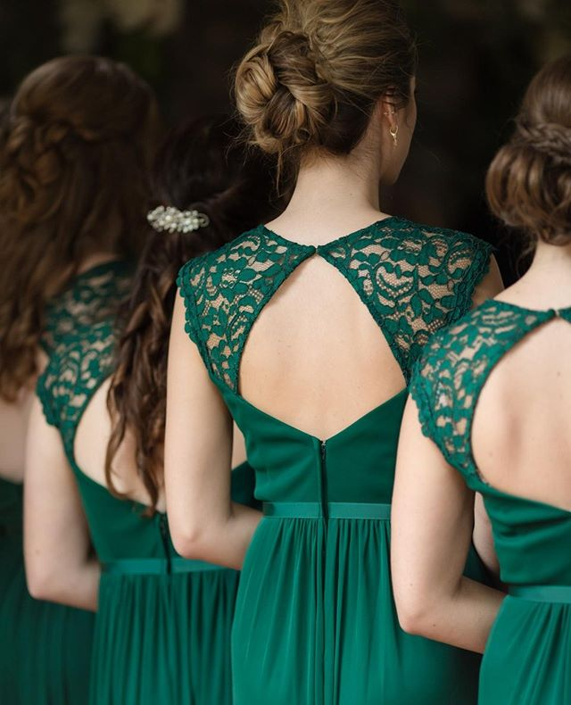 These beautiful green gowns are putting me in the holiday spirit!  Venue: The Ashford Estate @ashfordestate // Entertainment Company: SCE Event Group @sceeventgroup // Makeup Artist: Kiss n' Makeup Artistry by Geysha Tomassone @Kissnmakeupnj // Videographer: Stomping Bread Productions Andrew King // Hair: Jennifer Costner @Happilyeverafterhair // Florist: Petal Pushers @Petalpushersmagnolia // Stationery: Minute Man Press // Wedding Gown Designer: Stella York @missstellayork // Bridesmaids Dresses: David's Bridal // Groom & Groomsmen Attire: Indochino // Cake: The Bake Works @Thebakeworksnj // Lighting Company: Fennell Design @Fennellidesign // Hairpiece & Veil: The Barefoot Bride @thebarefootbride.nj // Favors: Amsterdam Printing // Transportation: Arrive in Style  #sostella #becomingbjorling @baygirl4th  #authenticlovemag  #mrandmrs #loveintentionally  #marthaweddings  #weddinginspirations  #weddingdetails #weddingblog  #weddingblogger #weddingforward  #junebugweddings #huffpostweddings #nyweddingplanner  #njweddingplanner #justsaidyes #theknotrealweddings #theknot #newjerseywedding #newjerseybride #realwedding #instylewedding #theashfordestate #ashfordestate #ashfordestateweddings #davidsbridal