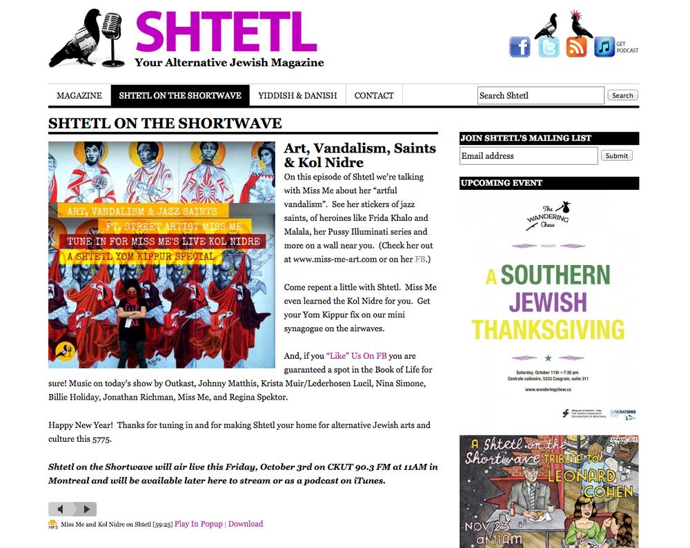 Listen to on SHTETL Montreal