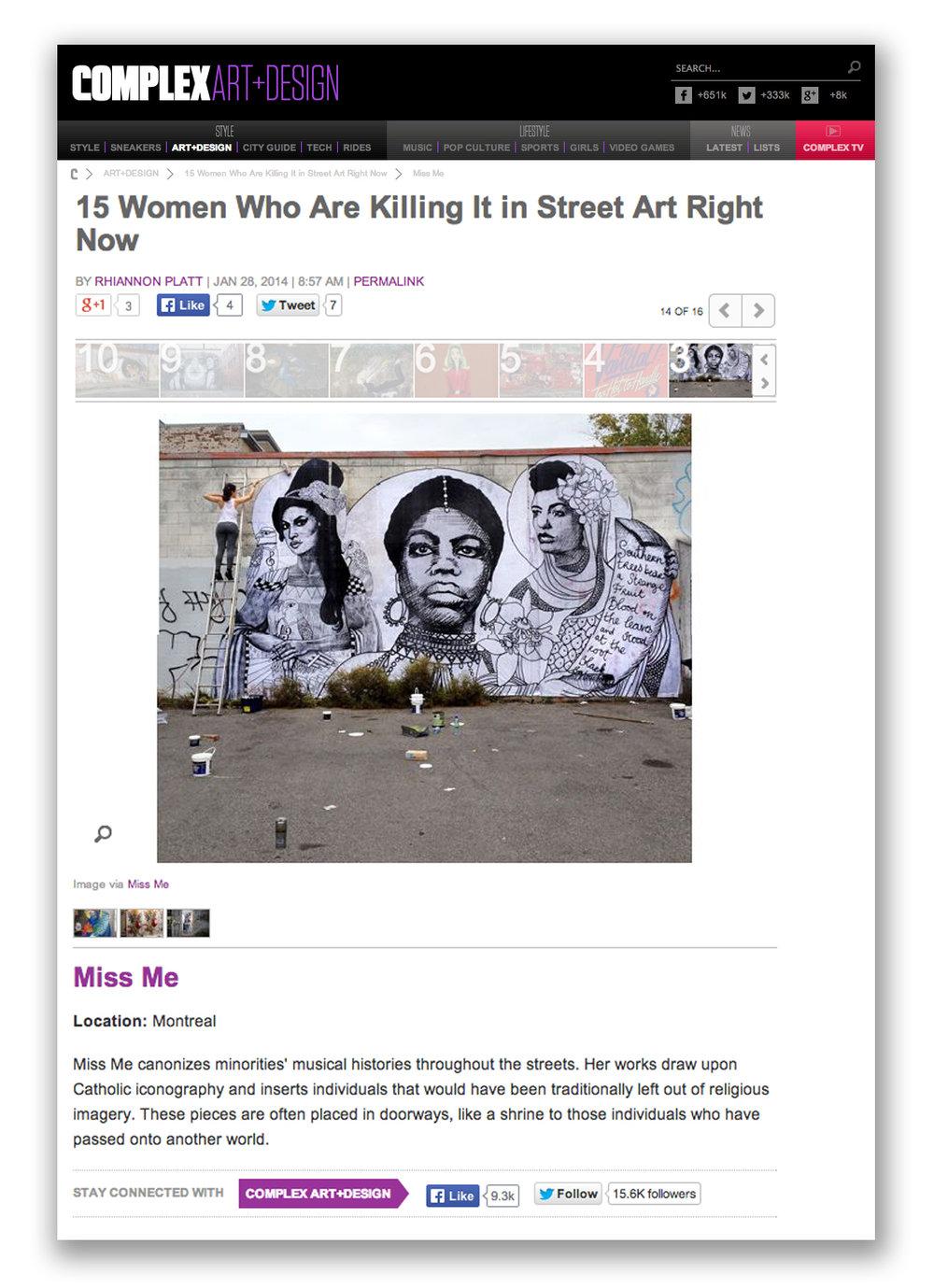 COMPLEX MAG - Women Killing it in Street Art