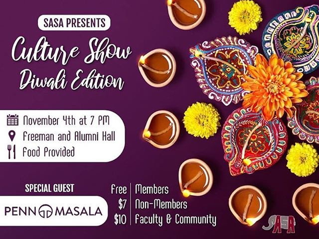 PENN STATE: We're so excited to continue our fall tour with you next weekend! Come watch us and other talented teams perform this Sunday, November 4 at SASA Cultural Show! 🙂