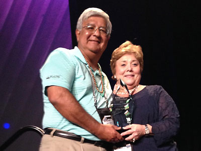 Wilna Sepulvado, pictured with husband Joe Sepulvado, accepting the ProAdvisor of the Year Award, awarded to only one of 120,000 ProAdvisors each year.