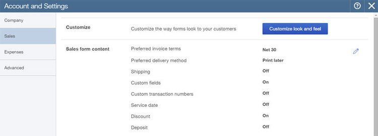 Gear Menu Important In QuickBooks Online Setup And Beyond - Quickbooks online invoicing portal features