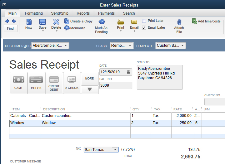 Understanding Sales Receipts in QuickBooks and When to Use Them ...