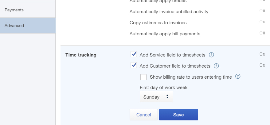 QuickBooks Online Plus Time Tracking Feature
