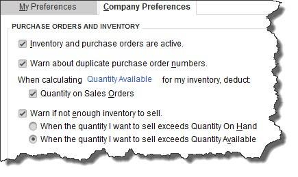 QuickBooks inventory tracking