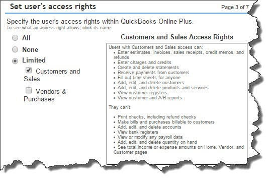 QuickBooks Online mini-interview to set up user access rights