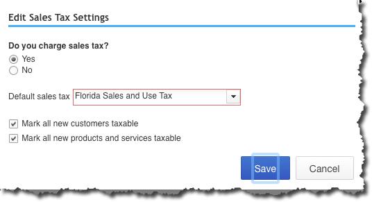 Edit Sales Tax Settings in QuickBooks Online