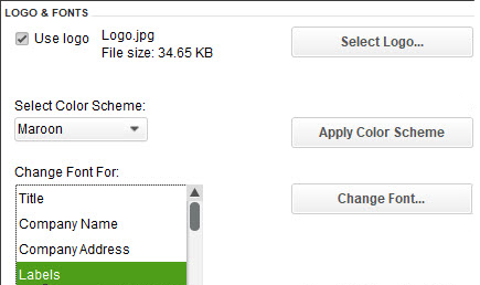 You can personalize your forms in QuickBooks Desktop and make them consistent with any design themes your brand may use.