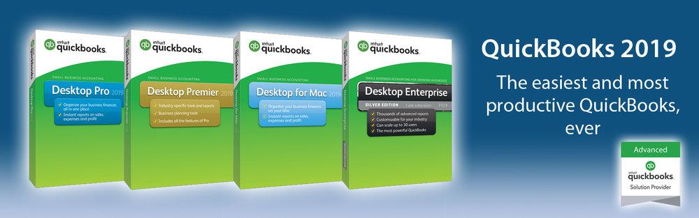 QuickBooks 2019 - QuickBooks Enterprise 2019 | QuickBooks Desktop Premier 2019 | QuickBooks Desktop Pro 2019 | Intuit Premier Reseller | QuickBooks Solution Provider Advanced