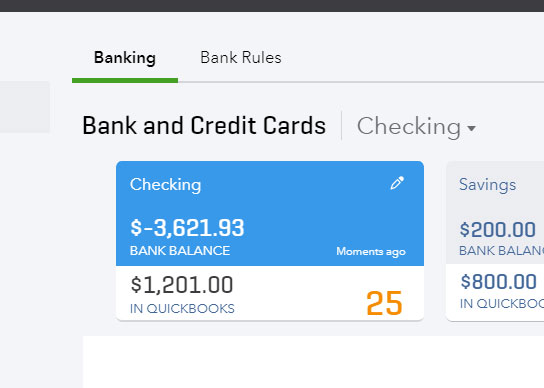Banking and downloaded transactions in QuickBooks Online