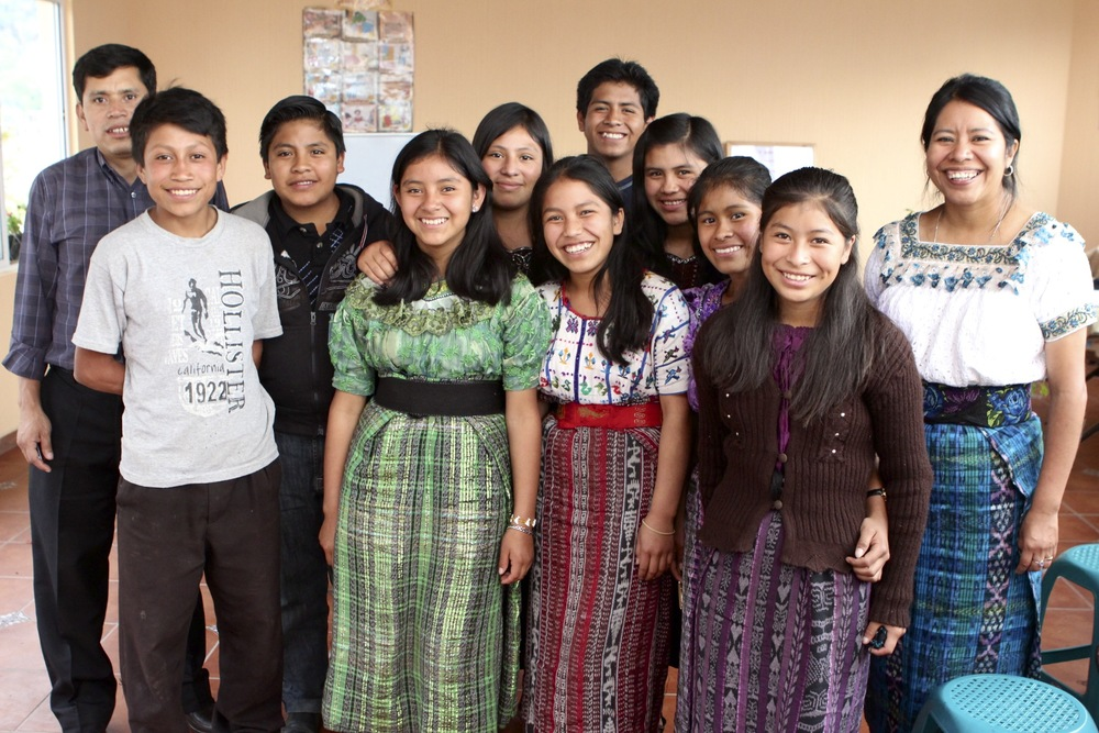 Left to right: Gregorio, Josue, Donis, Lidia, Mayra, Jasmin, Juan Antonio, Maria Isabel, Evelyn, Florinda, and Candelaria.