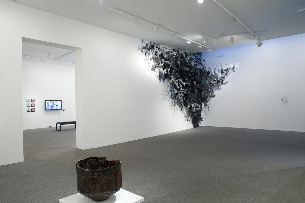 Accretion  2015, Mixed media, approx. 18'h x 20'w x 10'd   Baker Artists Awards Exhibition , curated by Helene Grabow, Baltimore Museum of Art, Baltimore, MD