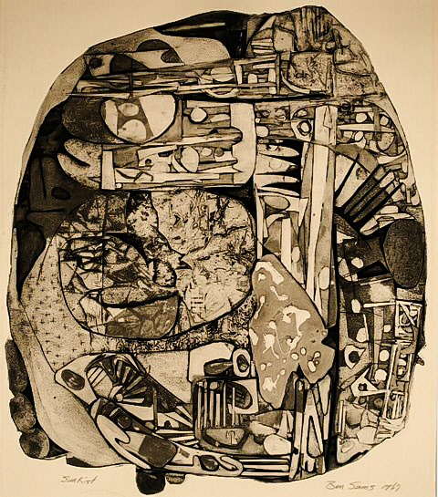 "Sunkist Collagraph ""29""x""25"" 1967"