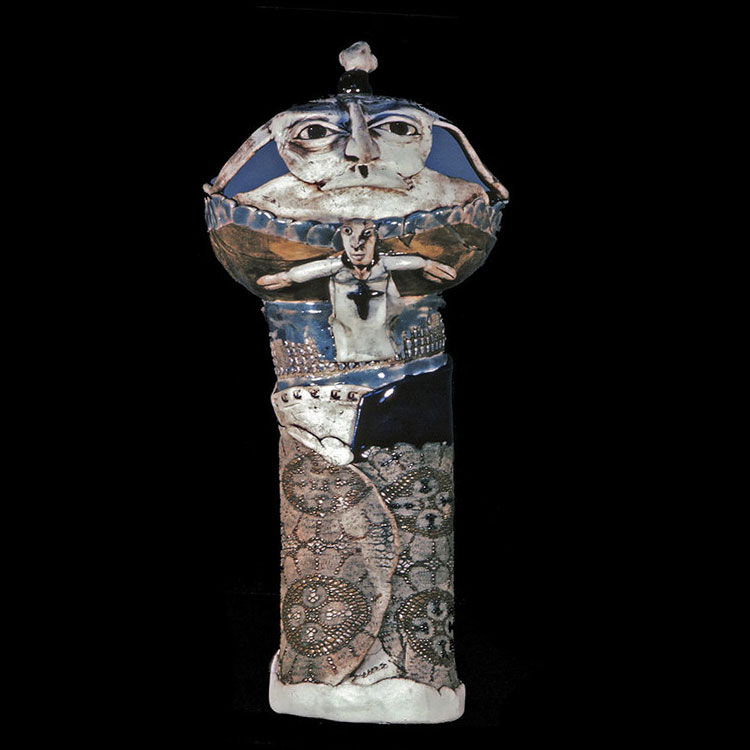 "Lonesome Nest Porcelain  15"" 1971"