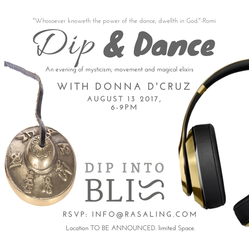 Come join me for a special  Dip Into Bliss  experience Sunday August 13th at 6 PM!