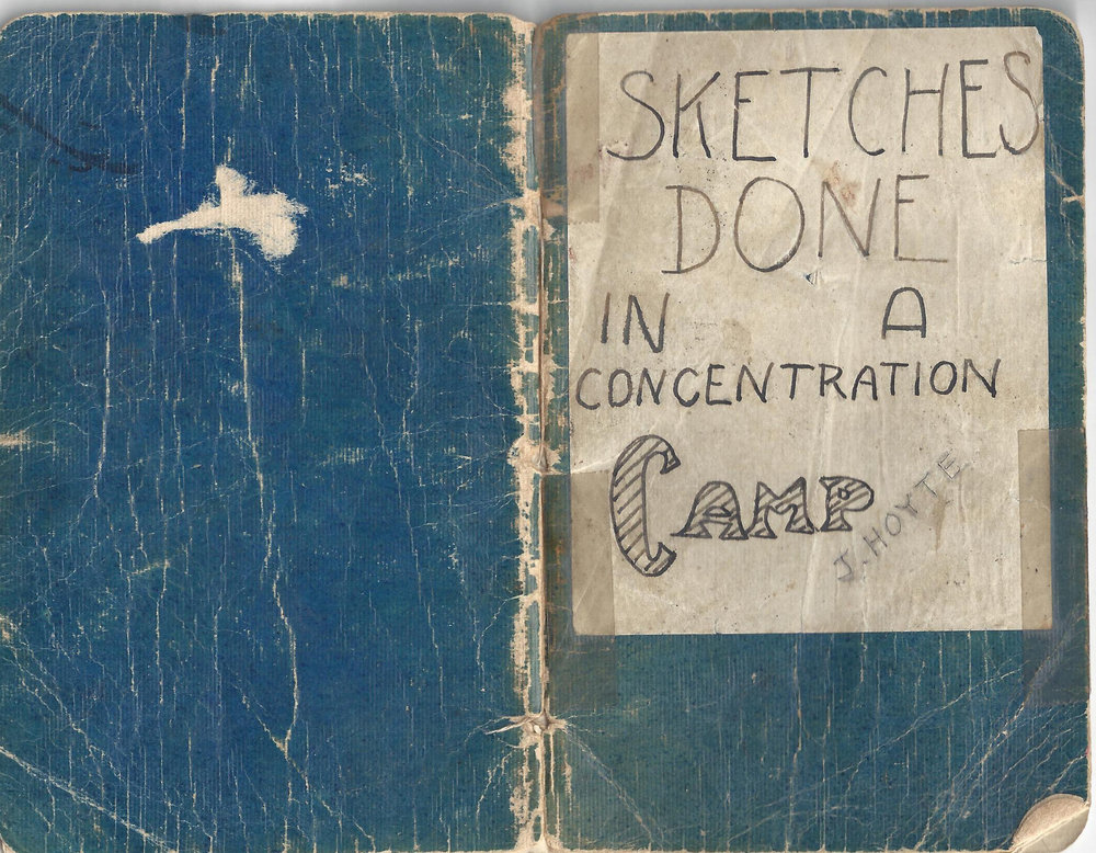 Cover and sketches from Weihsien Concentration Camp