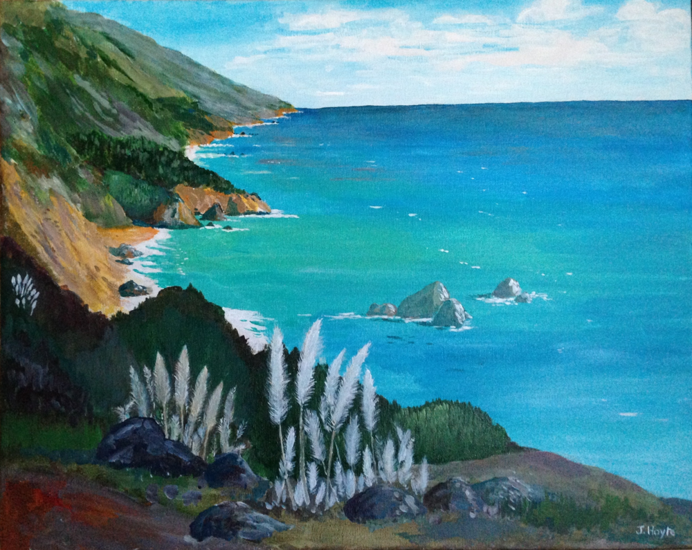 Big Sur Coast and Sea Oats