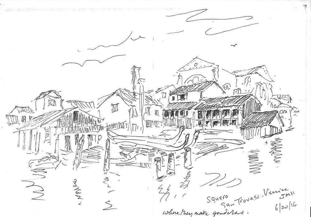 Venice: Where they make the gondolas