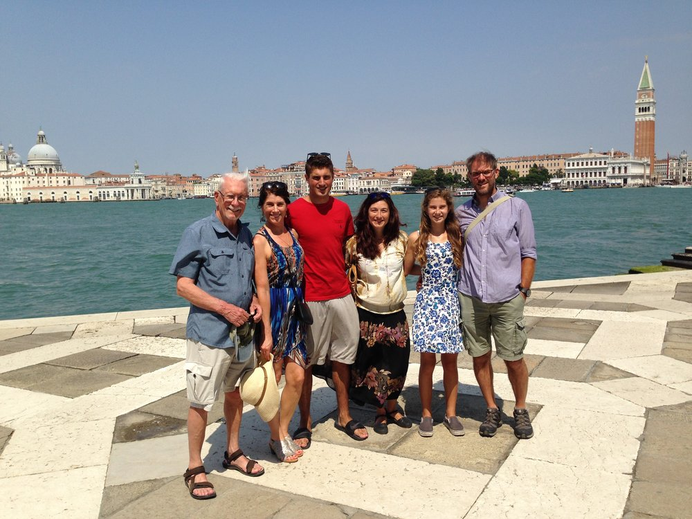 Venice Summer 2016 From right to left: Jonathan, Rachel, Martina, Nick, Helena and me.