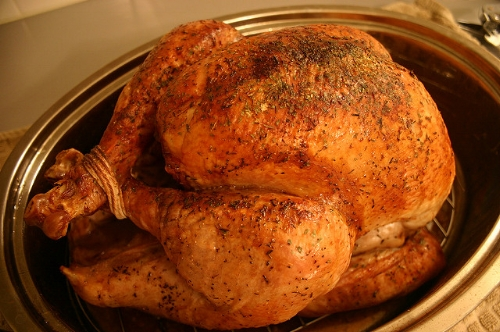 Turkey on the platter, one reason to be thankful. — Bernie Zimmermann/Flickr