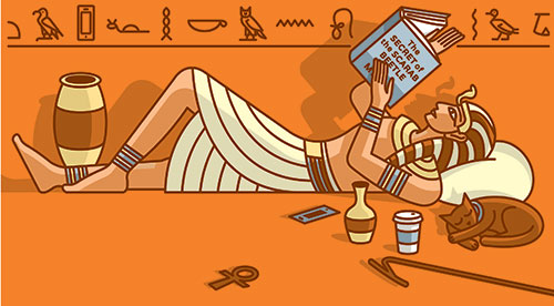 It's Ancient History  BY  LORY HOUGH , ON JANUARY 8, 2017 9:23 AM  How one alum's early interest in early Egypt turned into a book series.