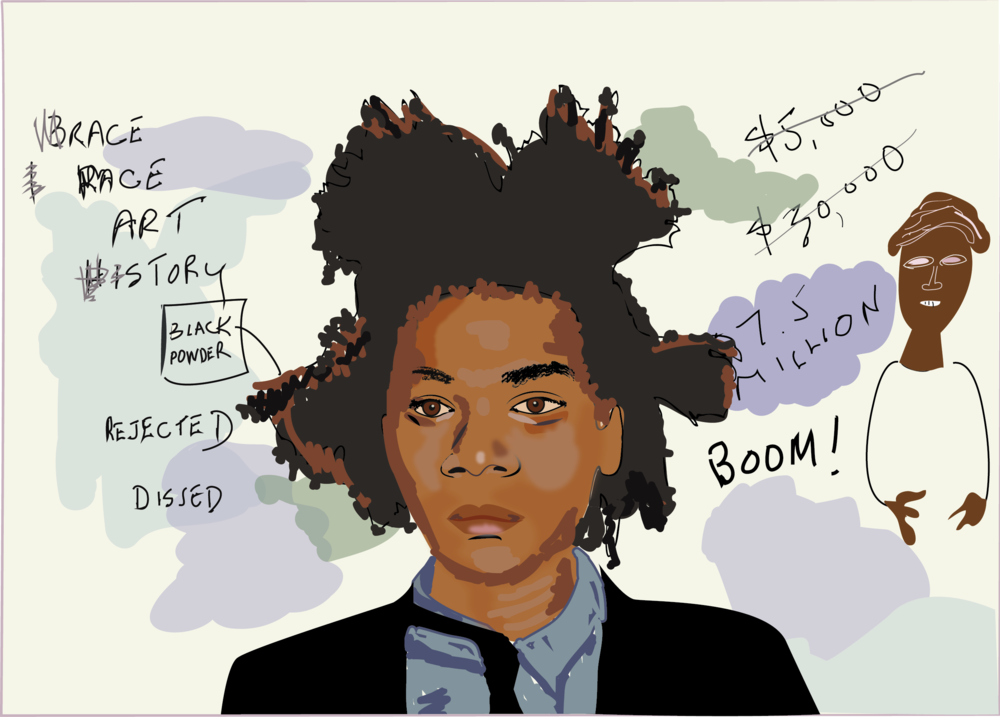 Basquiat, 2016, Digital Illustration, Marilyn Witkowski