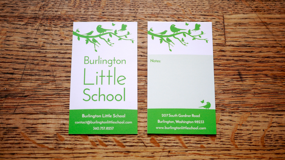 Burlington Little School business card design
