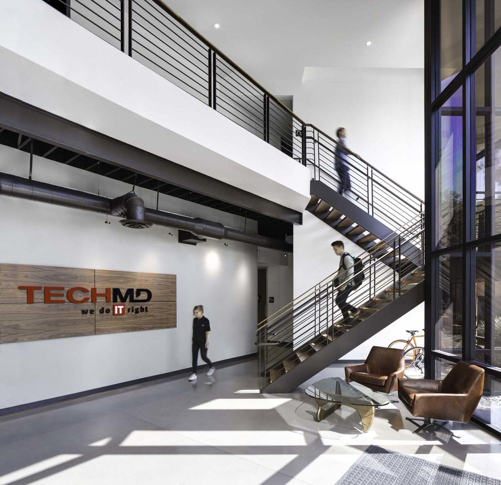 """The """"IT"""" space - a commercial internet tech space designed by the Anders Lasater team that was voted """" one of the best places to work """" by Orange County Business Journal"""