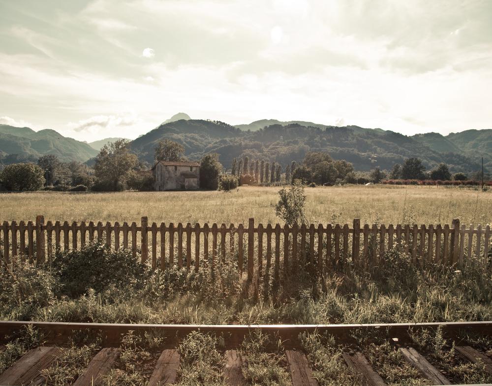 View from Barga-Gallicano train station Tuscany, Italy