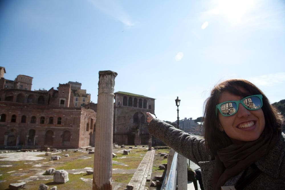 Cathleen at the Roman Forum