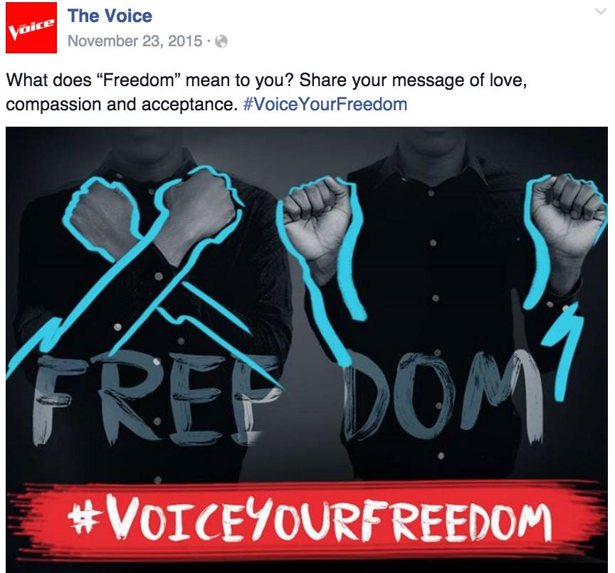 #VoiceYourFreedom