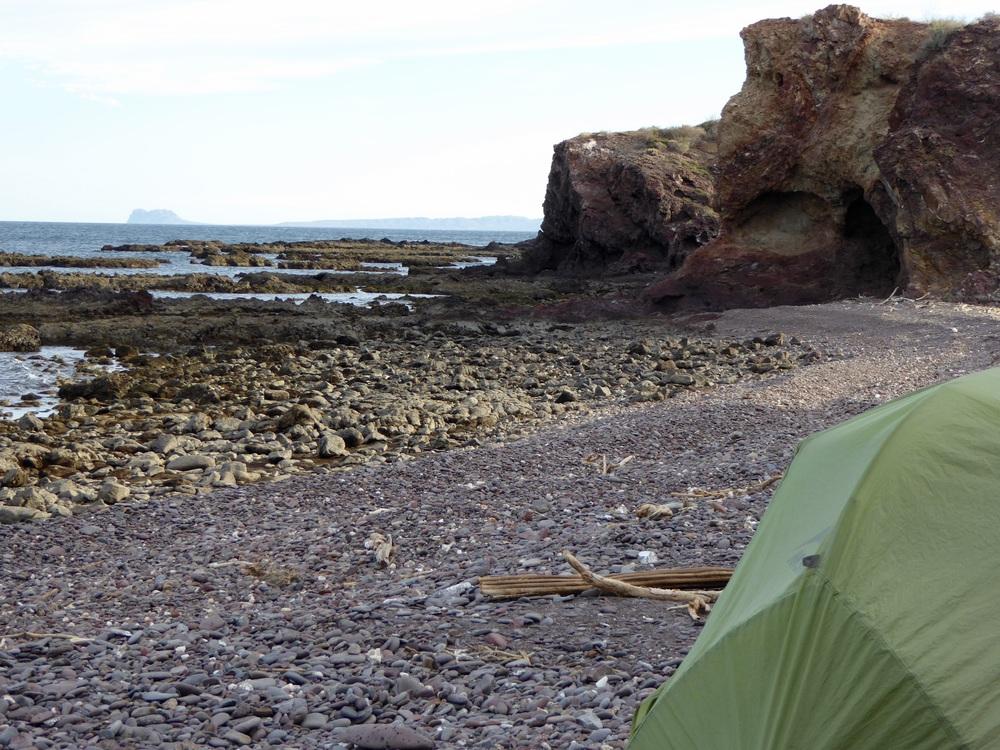Camping at Punta Theresea,