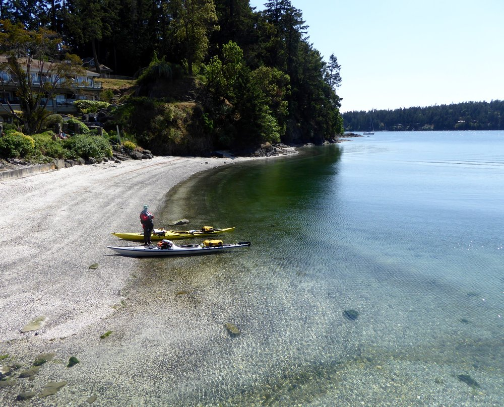 Hard not to paddle when the seas are calm!