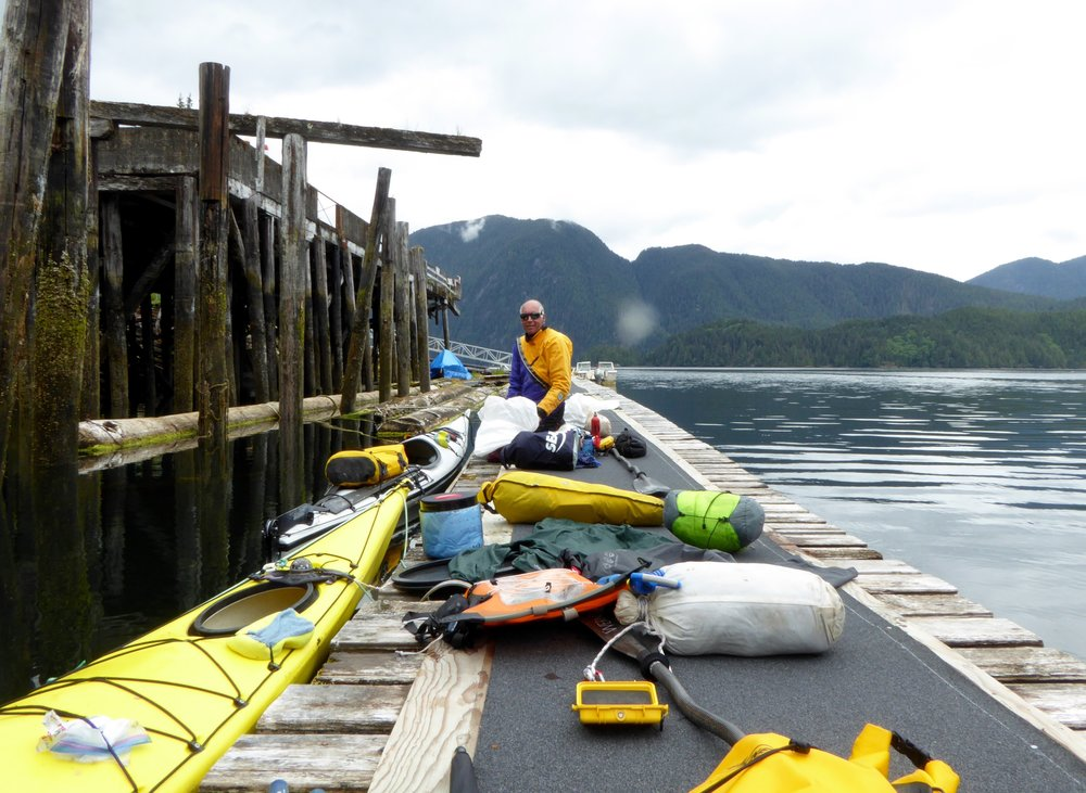 We unloaded our gear on to the dock.