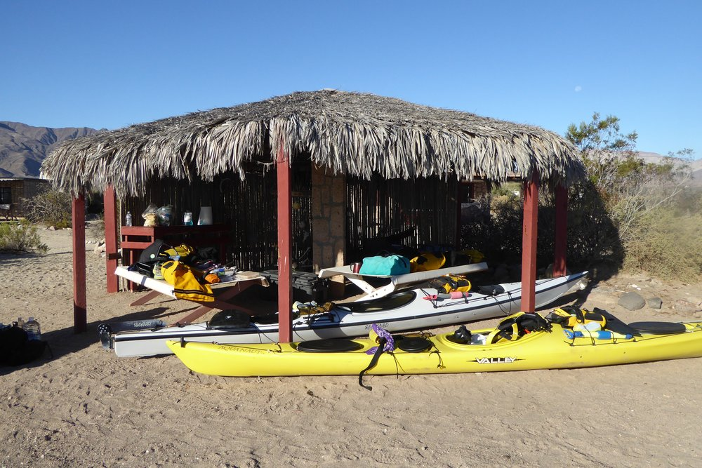 The palapa was a great staging area.