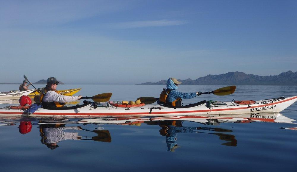 First paddling day.