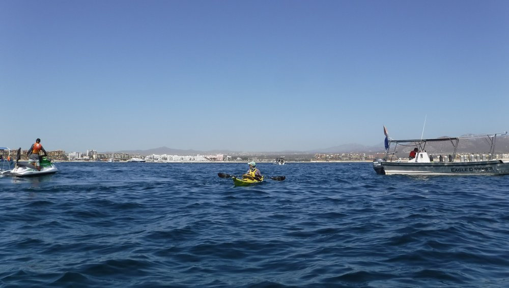 A lot of defensive kayaking to get to shore,