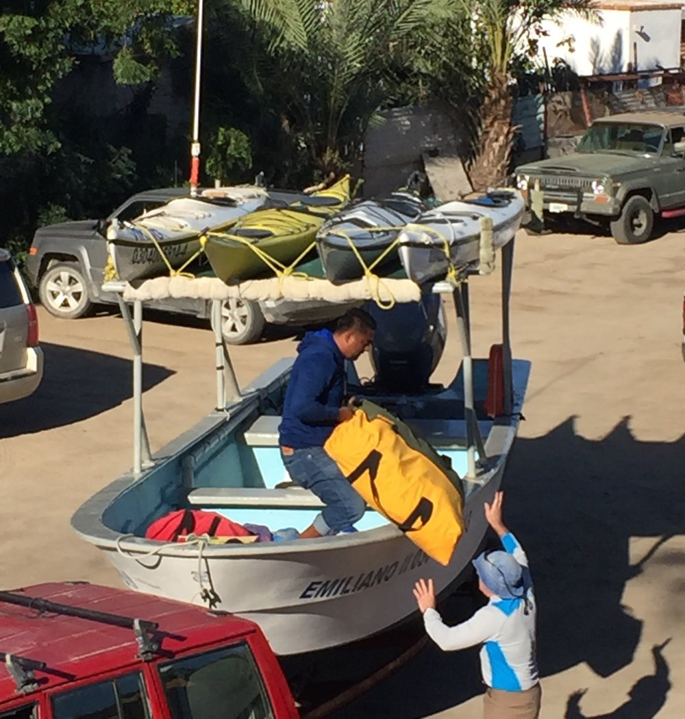 This will be the first boat shuttle that Don and I have done in Baja.