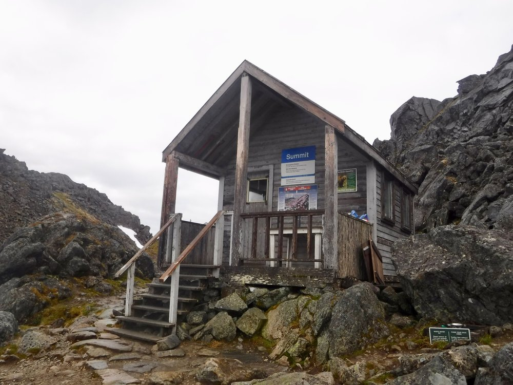 The summit of Chilkoot Pass