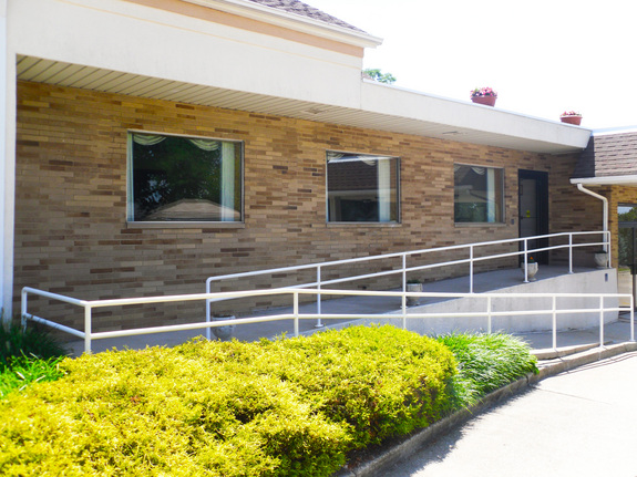 Our handicap ramp provides easy access for those with special needs.