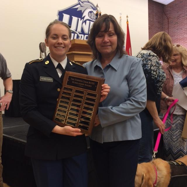 Congratulations to our 2018 scholarship recipient, Cadet Alyssa Pennycuick