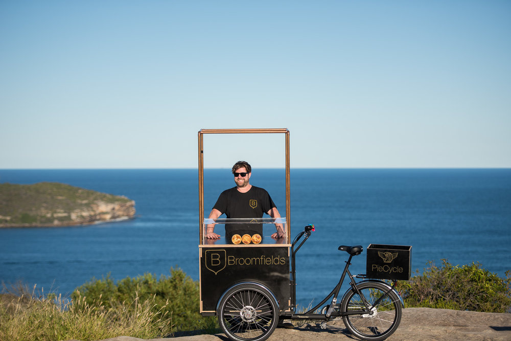 Ryan Broomfield and his PieCycle Photograph: Murray Fraser / Sprout Daily